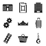 Quantity of money icons set, simple style. Quantity of money icons set. Simple set of 9 quantity of money vector icons for web isolated on white background Stock Photo