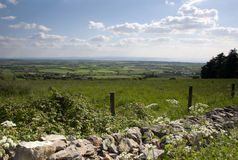 The Quantock hills Somerset. View looking towards the Quantock hills and Minehead in Somerset Stock Photos