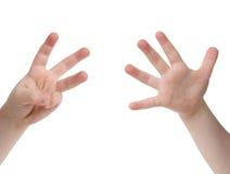 Quantos dedos? imagem de stock