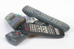 Quantos telecontroles!? Fotografia de Stock Royalty Free