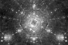 Quantum computer black and white intensity map Royalty Free Stock Photos