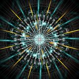 Quantum computer running, with motion elements royalty free stock images