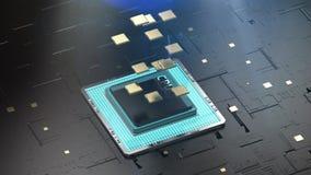 Quantum computer technology concept