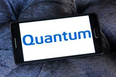 Quantum Corporation logo. Logo of Quantum Corporation on samsung mobile. Quantum Corporation is a manufacturer of data storage devices and systems, including Royalty Free Stock Image