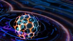 Free Quantum Futuristic Technology Computer With Digital Ring Hexagon Stock Photos - 216767343