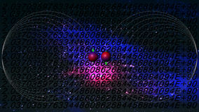 Quantum gegevensverwerking Stock Foto
