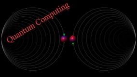 Quantum gegevensverwerking Royalty-vrije Stock Foto