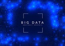 Quantum gegevensverwerkingsachtergrond Technologie voor grote gegevens, visualiza stock illustratie
