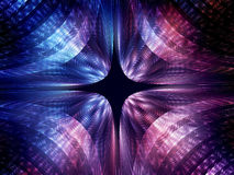 Quantum mechanics wave attribution. Quantum mechanics, particle with wave attribution, computer generated abstract background, 3D rendering royalty free illustration