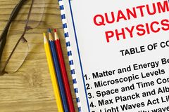 Quantum physics definition concept Royalty Free Stock Image