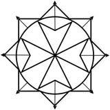 Quantum physics logo Royalty Free Stock Photography