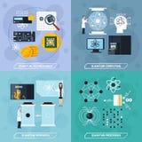 Quantum Processes 2x2 Design Concept Stock Image