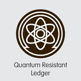 Quantum Resistant Ledger - Digital Currency Element. Quantum Resistant Ledger. Cryptocurrency. QRL Colored Logo Isolated on Grey Background. Stock Vector Icon Stock Photos