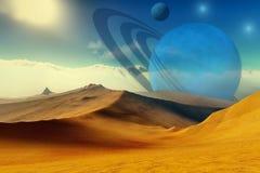 Quantum Signature. A beautiful desert planet and its moons
