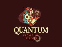 Quantum, voyage d'humanité des atomes à l'espace-temps illustration stock