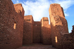 Quarai Mission Ruins. Quarai Ruins at Salinas National Monument in the State of New Mexico Stock Image
