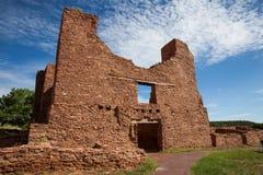 Quarai Ruin. Historic Ruins of Pueblo Missions near Mountainair, New Mexico Royalty Free Stock Photos