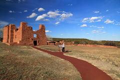 Quarai Ruins. At Salinas National Monument in the State of New Mexico Royalty Free Stock Image