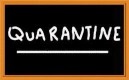 Quarantäne stockbild