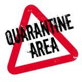 Quarantäne-Bereichsstempel Stockfoto
