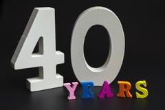Quaranta anni Immagine Stock Libera da Diritti