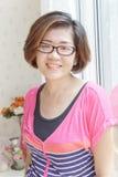 Quaranta anni della donna asiatica con buona salute fotografie stock libere da diritti