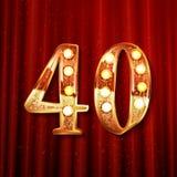 Quaranta anni di anniversario di logotype di celebrazione Immagine Stock