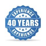 Quaranta anni di esperienza di icona di vettore illustrazione di stock