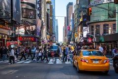 quarantaduesima via vicino al Times Square New York Immagine Stock Libera da Diritti