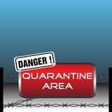 Quarantainegebied Royalty-vrije Stock Afbeeldingen