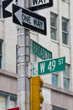 quarantanovesima via in New York Immagini Stock