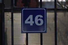 Quarantasei targhe di immatricolazione della casa Fotografia Stock Libera da Diritti