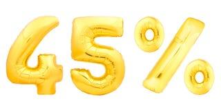 Quarante-cinq 45 pour cent d'or Photos stock
