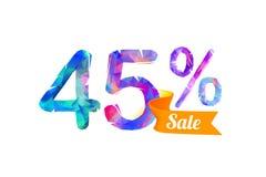 45 quarante-cinq pour cent de vente illustration de vecteur