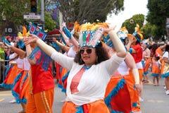 quarante-et-uni?me d?fil? grand annuel de Carnaval ? San Francisco, la Californie images stock