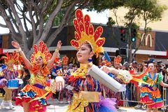 quarante-et-uni?me d?fil? grand annuel de Carnaval ? San Francisco, la Californie photographie stock