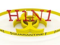 Quarantena H1N1 Fotografie Stock