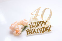 quarantesimo compleanno Fotografie Stock