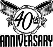quarantième anniversaire Image libre de droits