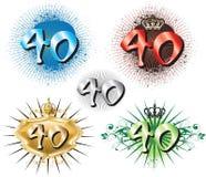 quarantième Anniversaire ou anniversaire illustration libre de droits