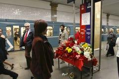 quarantième jour après les attaques terroristes à Moscou Photographie stock