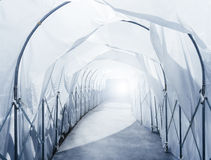 Quarantine Area with retractable Industrial Tunnel walkway Stock Photos