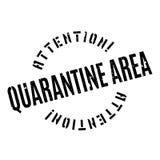 Quarantine Area rubber stamp Stock Images