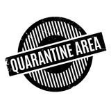 Quarantine Area rubber stamp Stock Image