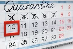 Free Quarantine Calendar And Crossed Out Days Of The Week Stock Photography - 178444762