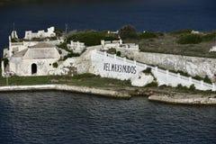 Quarantine Island, Menorca, Spain Stock Image