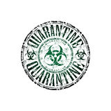 Quarantine rubber stamp Stock Photo