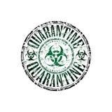 Quarantine rubber stamp Stock Photo
