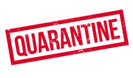 Quarantine rubber stamp. Grunge design with dust scratches. Effects can be easily removed for a clean, crisp look. Color is easily changed Royalty Free Stock Photo