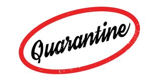 Quarantine rubber stamp. Grunge design with dust scratches. Effects can be easily removed for a clean, crisp look. Color is easily changed Royalty Free Stock Images